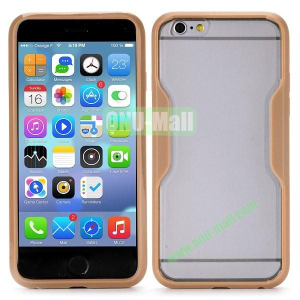 Translucent Matte Design PC and TPU Case for iPhone 6 4.7 inch (Brown)