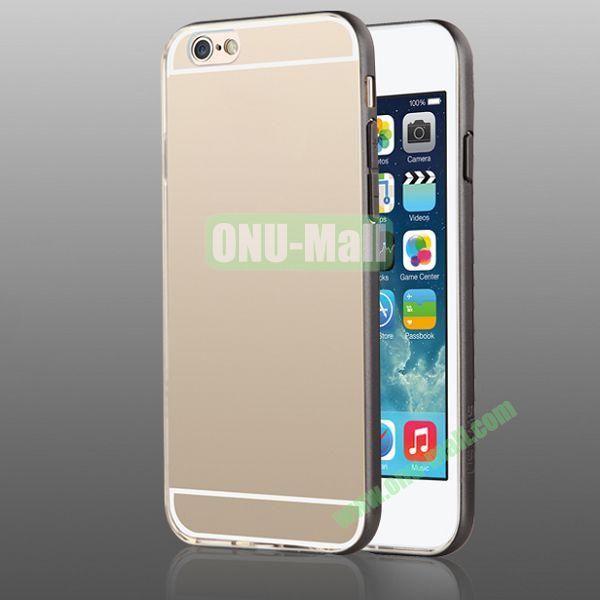 USAMS Slim Series 0.6mm Ultra Thin TPU+PC Bumper Hybrid Case for iPhone 6 4.7 inch (Black+Transparent)