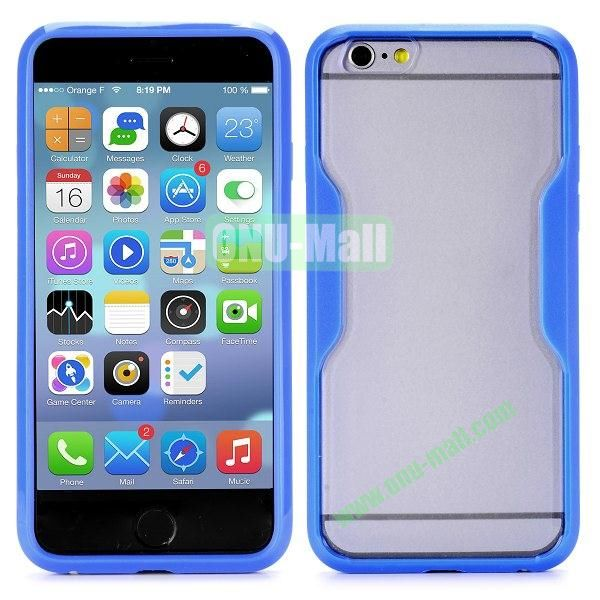 Translucent Matte Design PC and TPU Case for iPhone 6 4.7 inch (Blue)