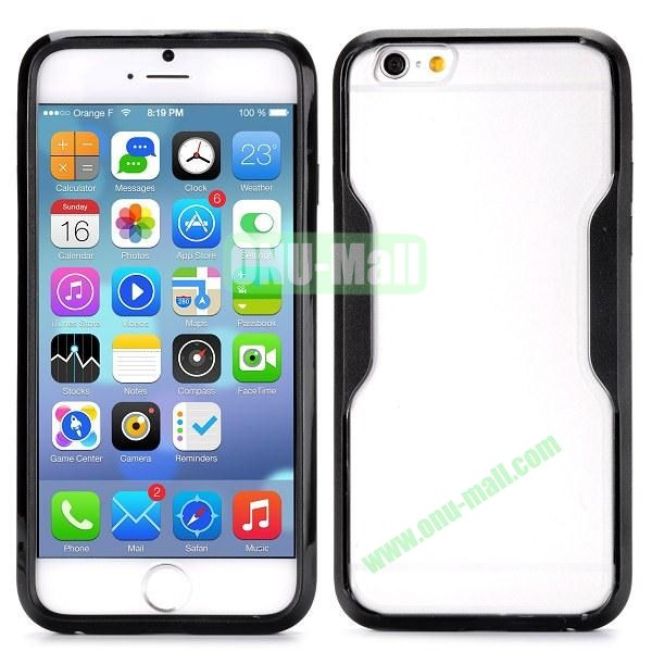 Translucent Matte Design PC and TPU Case for iPhone 6 4.7 inch (Black)