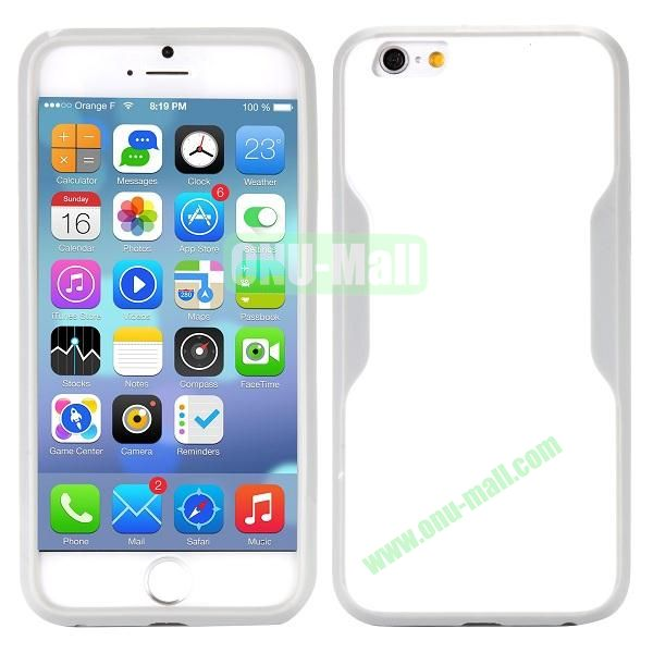 Mix Color Matte Design PC + TPU Case for iPhone 6 4.7 inch (White and Grey)
