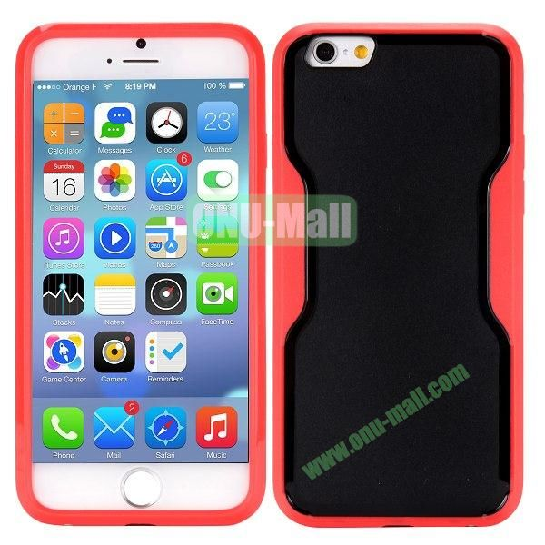 Mix Color Matte Design PC + TPU Case for iPhone 6 4.7 inch (Black and Red)