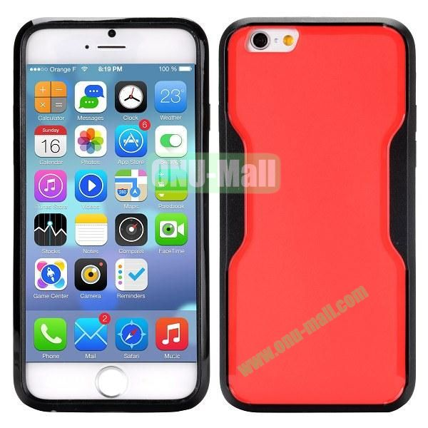 Mix Color Matte Design PC + TPU Case for iPhone 6 4.7 inch (Red and Black)