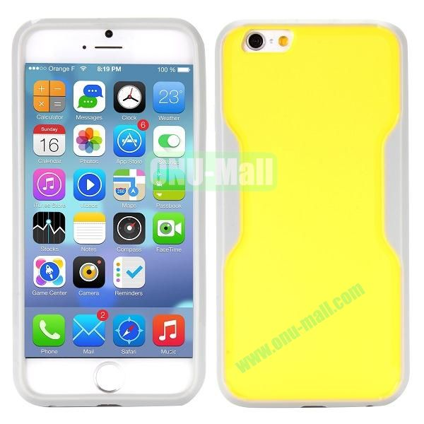 Mix Color Matte Design PC + TPU Case for iPhone 6 4.7 inch (Yellow and Grey)