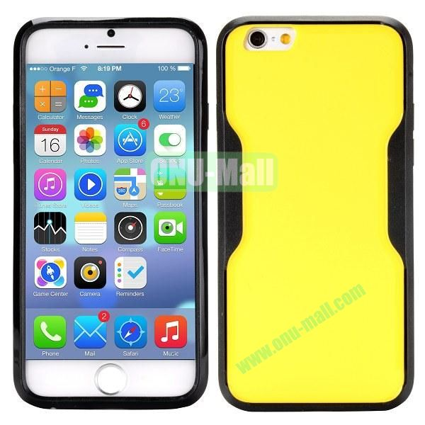 Mix Color Matte Design PC + TPU Case for iPhone 6 4.7 inch (Yellow and Black)