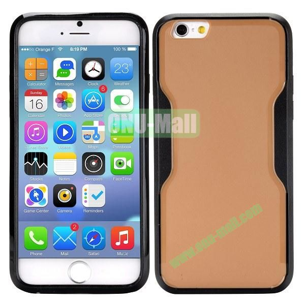Mix Color Matte Design PC + TPU Case for iPhone 6 4.7 inch (Brown and Black)