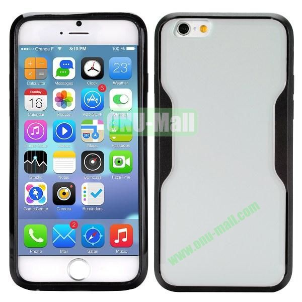 Mix Color Matte Design PC + TPU Case for iPhone 6 4.7 inch (White and Black)
