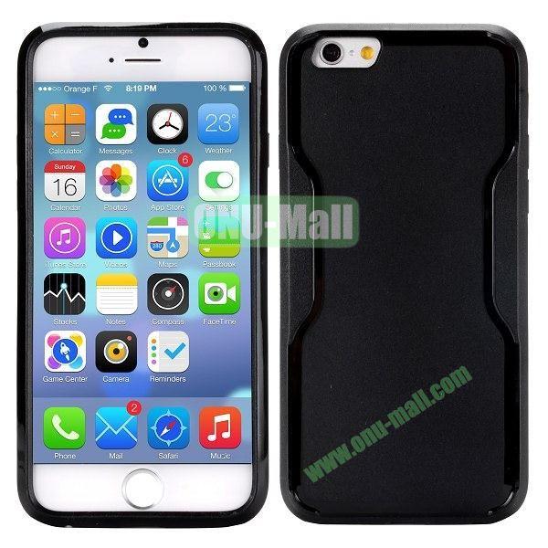Mix Color Matte Design PC + TPU Case for iPhone 6 4.7 inch (Black)
