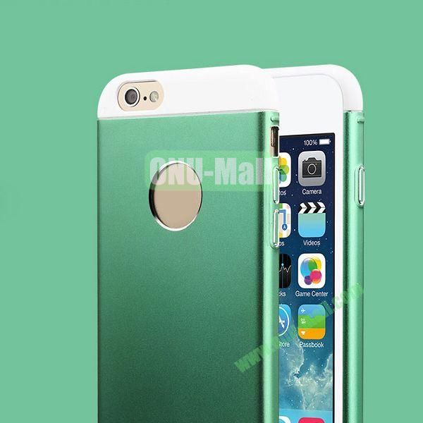 TOTU Design Knight Series Splicing Style Dual-color Aluminum+PC Hybrid Case for iPhone 6 4.7 inch (Green+White)