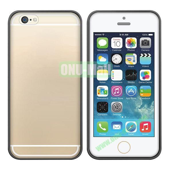 USAMS Edge Color Series Ultra Thin Transparent Hard PC+Fexible TPU Edge Design Hybrid Case for iPhone 6 4.7 inch (Black)