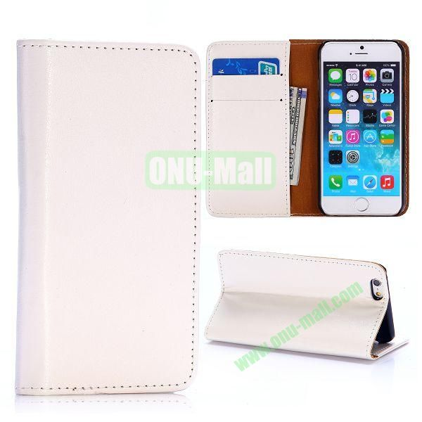 Crystal Grain Wallet Style Flip Leather Case for iPhone 6 4.7 inch (White)