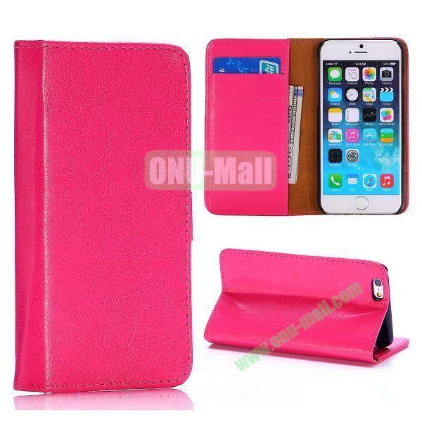 Crystal Grain Wallet Style Flip Leather Case for iPhone 6 4.7 inch (Rose)