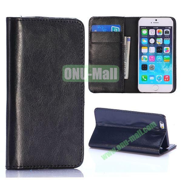 Crystal Grain Wallet Style Flip Leather Case for iPhone 6 4.7 inch (Black)