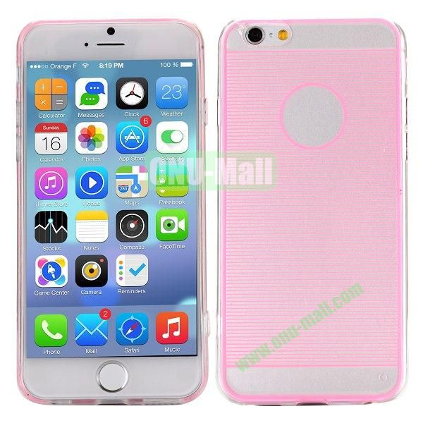 Stripes Pattern PC And TPU Protective Hard Case For iPhone 6 4.7 inch (Pink)