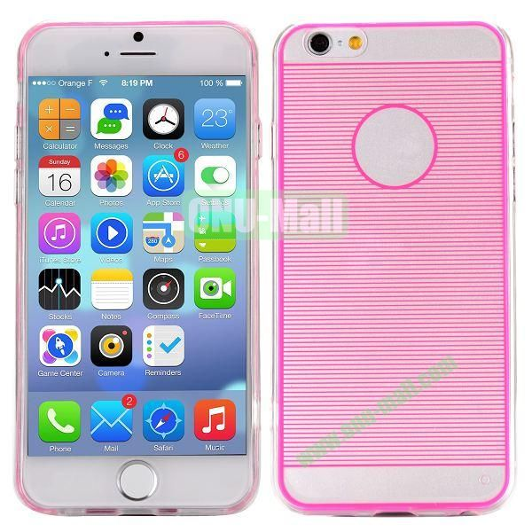 Stripes Pattern PC And TPU Protective Hard Case For iPhone 6 4.7 inch (Rose)