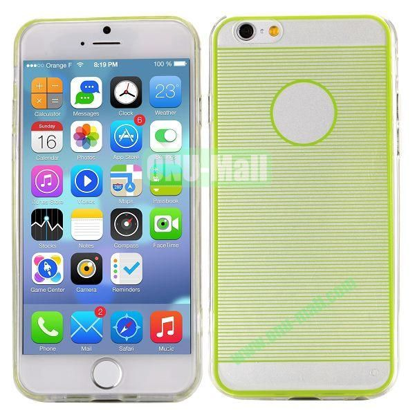Stripes Pattern PC And TPU Protective Hard Case For iPhone 6 4.7 inch (Green)