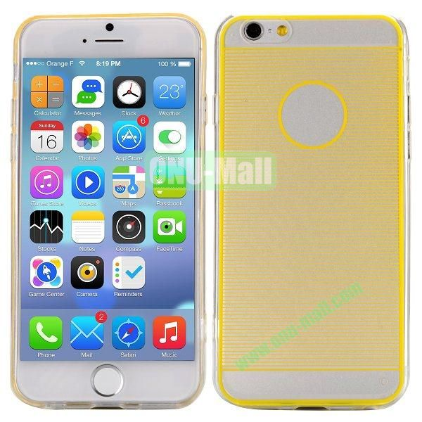 Stripes Pattern PC And TPU Protective Hard Case For iPhone 6 4.7 inch (Yellow)
