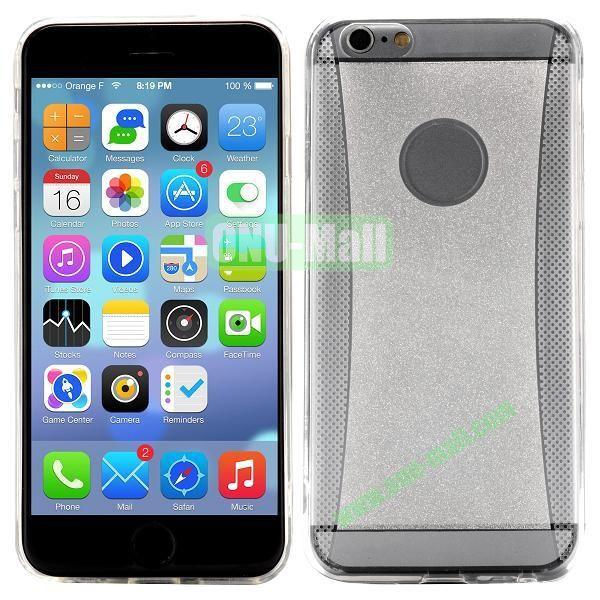 Glitter Powder Design TPU Case For iPhone 6 4.7 inch (Transparent)