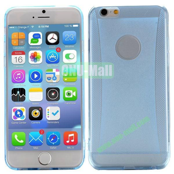 Glitter Powder Design TPU Case For iPhone 6 4.7 inch (Blue)
