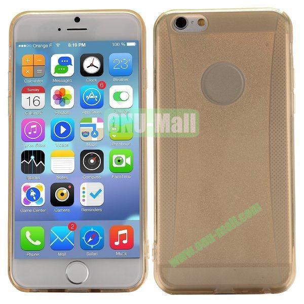 Glitter Powder Design TPU Case For iPhone 6 4.7 inch (Gold)