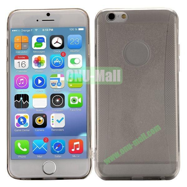 Glitter Powder Design TPU Case For iPhone 6 4.7 inch (Grey)