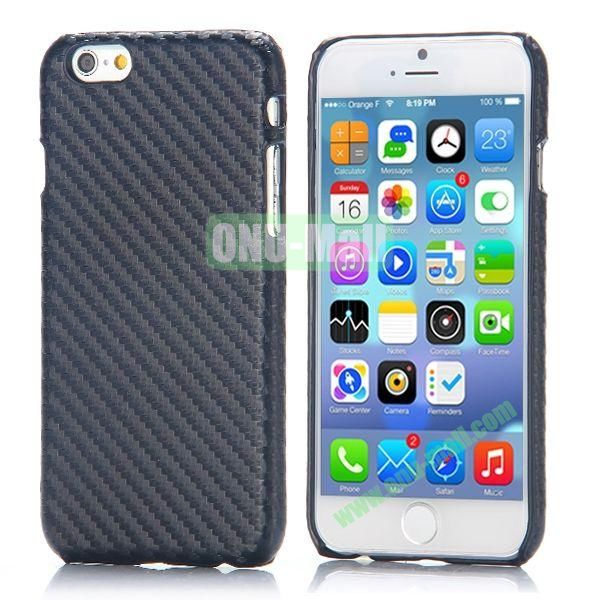 Carbon Fiber Pattern Leather Coated Hard PC Case for iPhone 6 4.7 inch (Black)