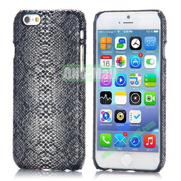 Snake Pattern Leather Coated Hard PC Case for iPhone 6 4.7 inch (Grey)