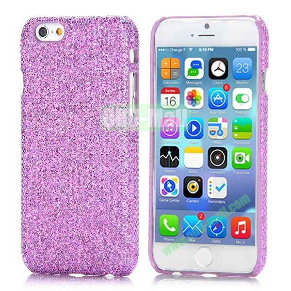 Glitter Powder Leather Coated Hard Case for iPhone 6 4.7 inch (Light Purple)
