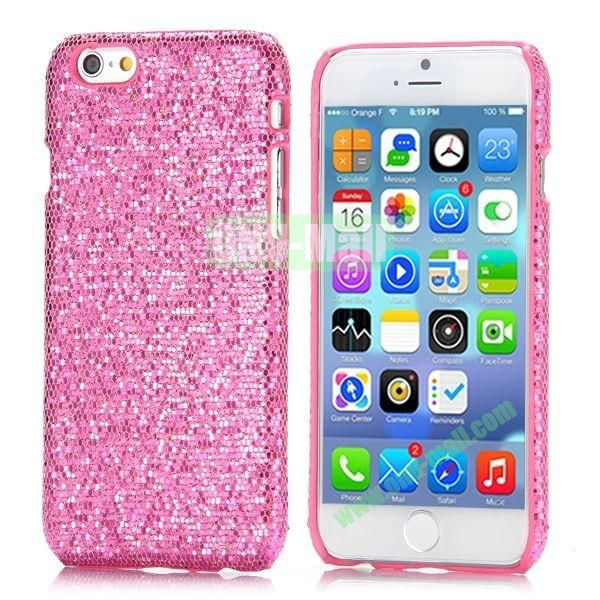 Glitter Powder Leather Coated Hard Case for iPhone 6 4.7 inch (Pink)