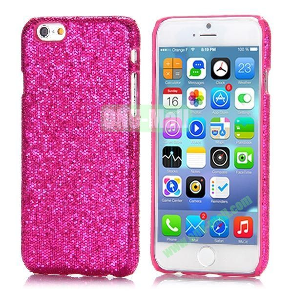 Glitter Powder Leather Coated Hard Case for iPhone 6 4.7 inch (Rose)
