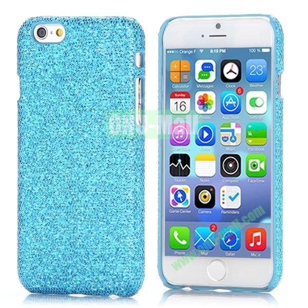 Glitter Powder Leather Coated Hard Case for iPhone 6 4.7 inch (Blue)