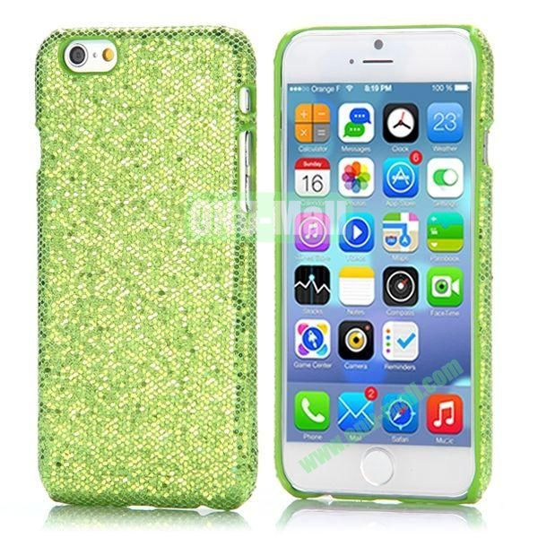 Glitter Powder Leather Coated Hard Case for iPhone 6 4.7 inch (Green)