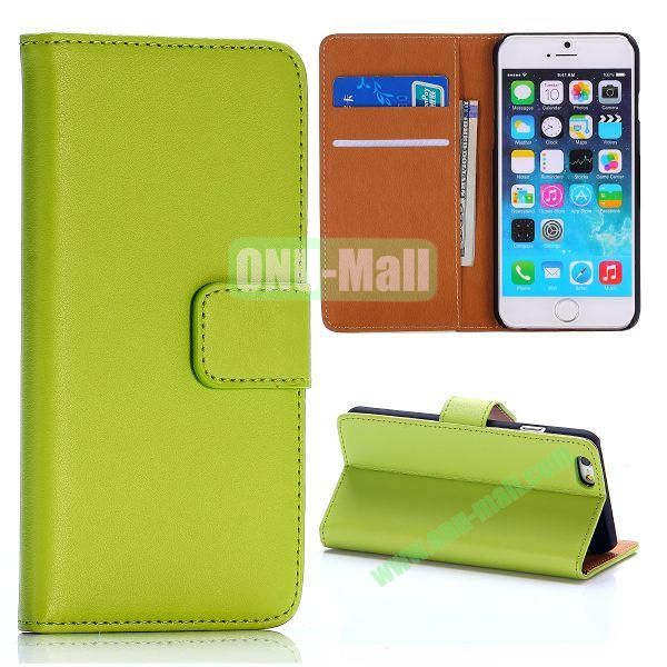 Hot Sale Flip Folio Stand PC+PU Leather Case for iPhone 6 4.7 inch with Card Slots (Green)