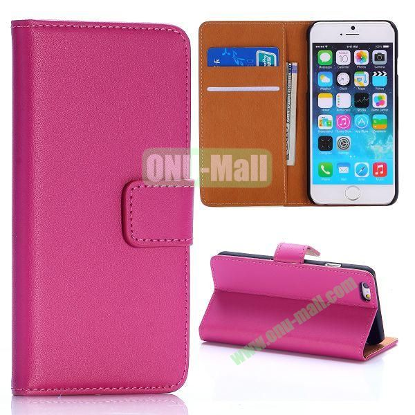 Hot Sale Flip Folio Stand PC+PU Leather Case for iPhone 6 4.7 inch with Card Slots (Rose)