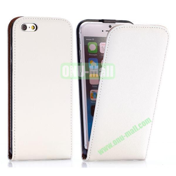 Simple Vertical Flip PC+PU Leather Case for iPhone 6 4.7 inch (White)