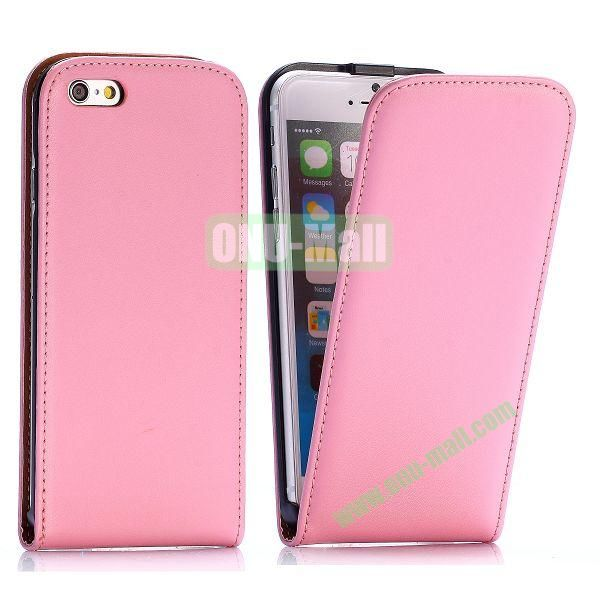 Simple Vertical Flip PC+PU Leather Case for iPhone 6 4.7 inch (Pink)