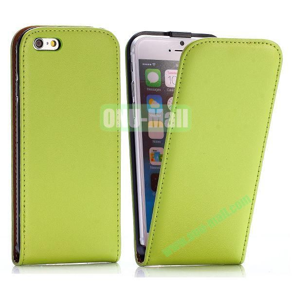 Simple Vertical Flip PC+PU Leather Case for iPhone 6 4.7 inch (Green)