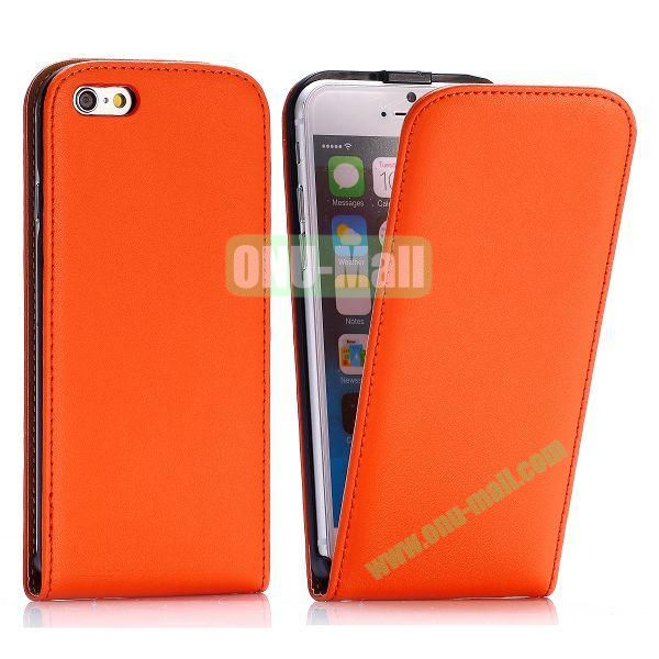 Simple Vertical Flip PC+PU Leather Case for iPhone 6 4.7 inch (Orange)