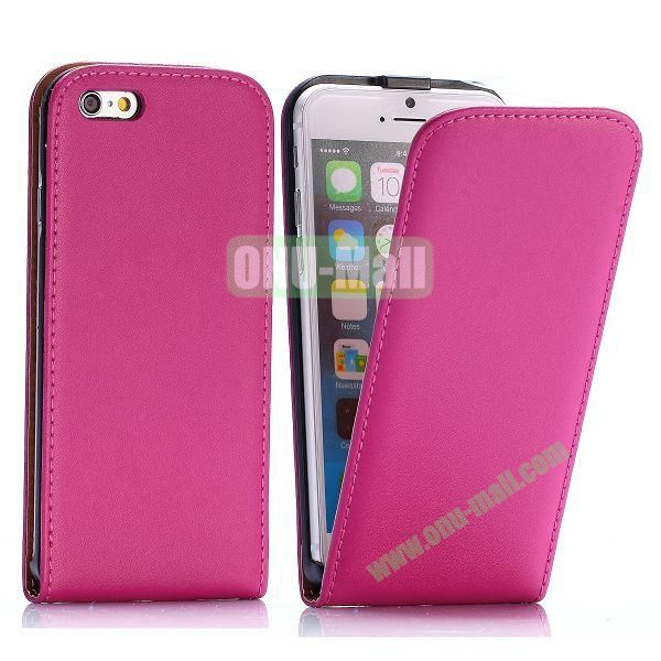 Simple Vertical Flip PC+PU Leather Case for iPhone 6 4.7 inch (Rose)