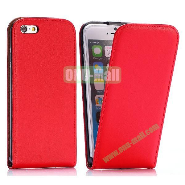 Simple Vertical Flip PC+PU Leather Case for iPhone 6 4.7 inch (Red)