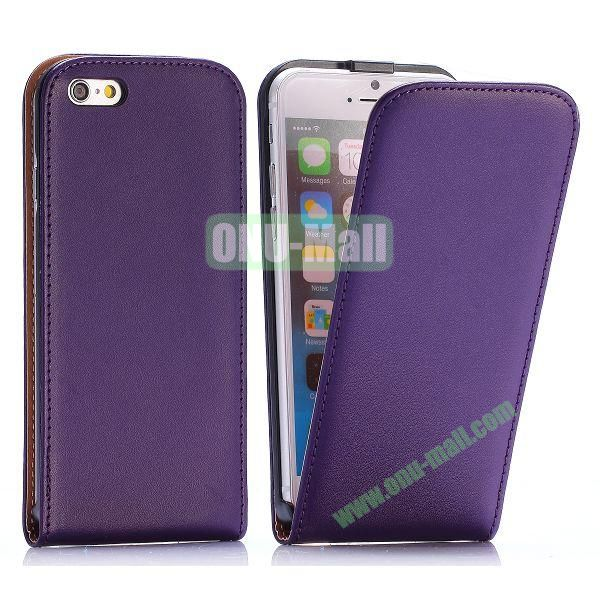 Simple Vertical Flip PC+PU Leather Case for iPhone 6 4.7 inch (Purple)