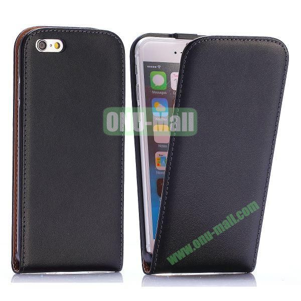 Simple Vertical Flip PC+PU Leather Case for iPhone 6 4.7 inch (Black)