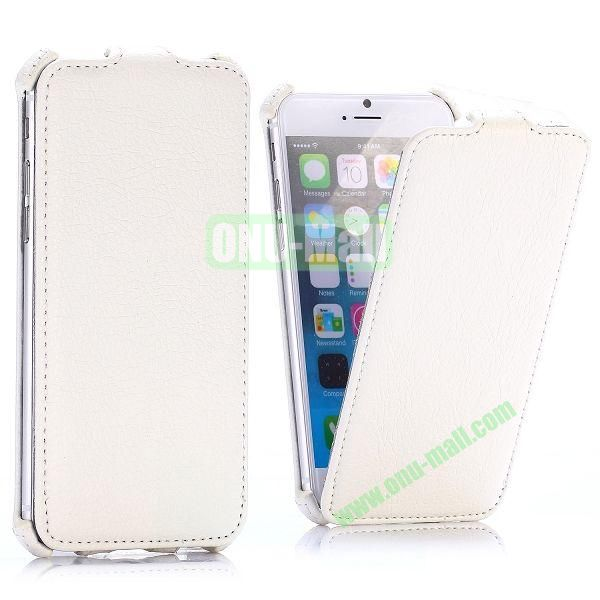 Litchi Texture Vertical Flip Leather Case for iPhone 6 4.7 inch (White)