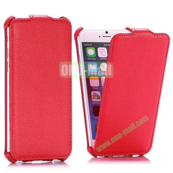 Litchi Texture Vertical Flip Leather Case for iPhone 6 4.7 inch (Red)