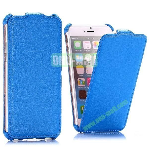 Litchi Texture Vertical Flip Leather Case for iPhone 6 4.7 inch (Blue)
