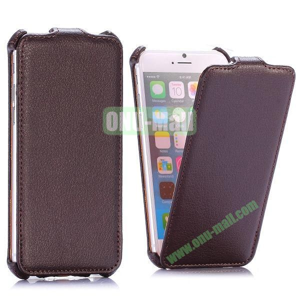 Litchi Texture Vertical Flip Leather Case for iPhone 6 4.7 inch (Brown)
