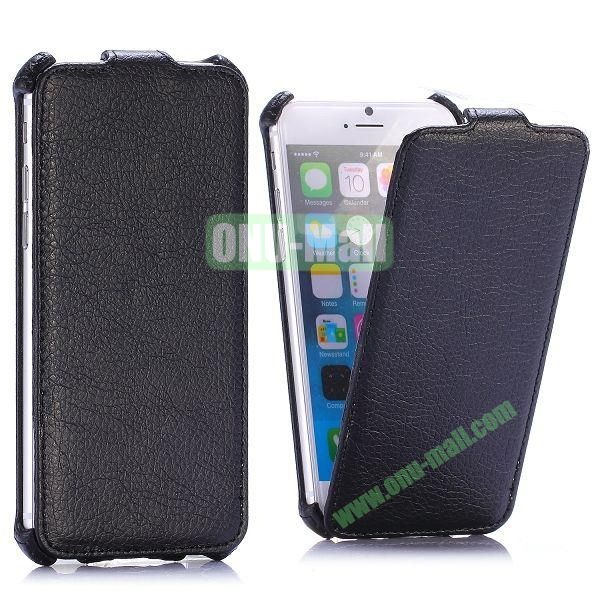 Litchi Texture Vertical Flip Leather Case for iPhone 6 4.7 inch (Black)