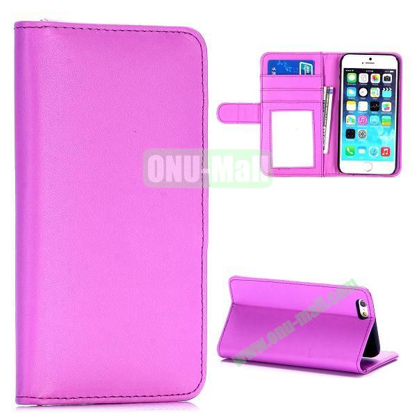 Fashion Magnetic Flip Stand PC+PU Leather Case for iPhone 6 4.7 inch (Purple)