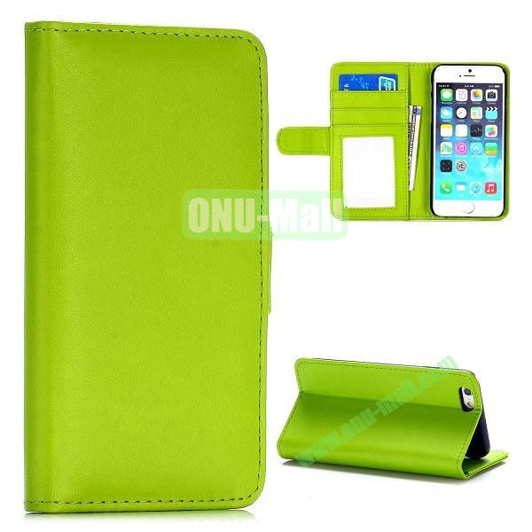 Fashion Magnetic Flip Stand PC+PU Leather Case for iPhone 6 4.7 inch (Green)
