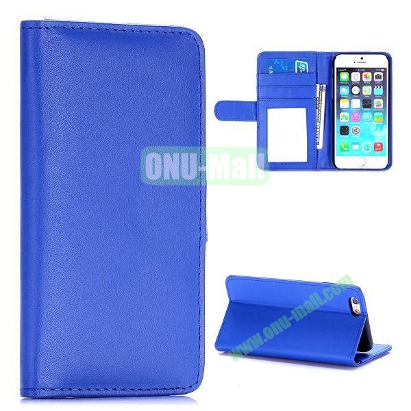 Fashion Magnetic Flip Stand PC+PU Leather Case for iPhone 6 4.7 inch (Blue)